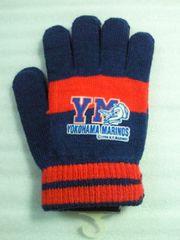サッカー Jリーグ 横浜マリノス 時代 手袋 グローブ ブルー レッド ホワイト フリーサイズ