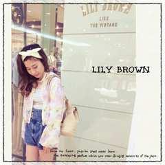((Lily brown/リリーブラウン))極美品♪鮮やかフラワーブルゾン⌒¥11232