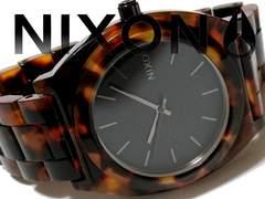 極美品 1スタ★NIXON ニクソン【べっ甲調】レア品 メンズ腕時計