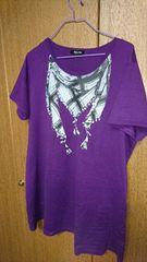 size:4L Tシャツ◆紫