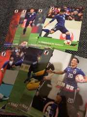 【サッカー】2018 JAPAN NATIONAL TEAM CARD 10枚セット(9)