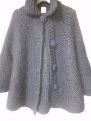 ティアラTIARAメルローズ 黒コート 定形外700