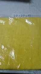 アレンジ自在フェイクファー貼れるファーシート黄色20×20�p程