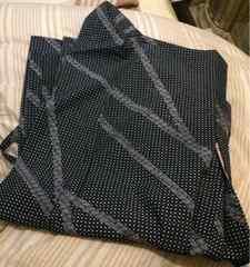 羽織り◆お洒落粋な波&ドット柄◆紺色◆和装◆上着