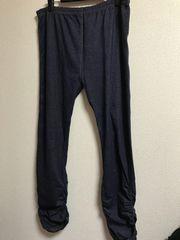 ★大きいサイズ3L CutieBeauty 裾シャーリング デニムレギンスパンツ★