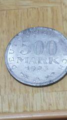 *ドイツ第一次世界大戦後ハイパーインフレ500マルク硬貨!!