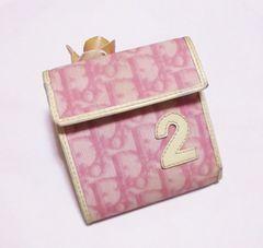 【セール】クリスチャンディオール革製二つ折り財布