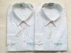 即決!新品☆TOMSIS スクールYシャツ 長袖�A枚☆LLサイズ