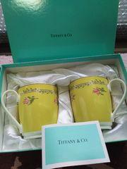 新品箱入り/ティファニーペアマグカップ