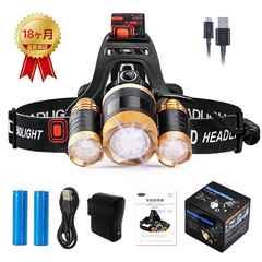 新品ヘッドランプusb充電式LEDヘッドライト