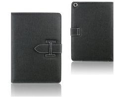iPad air2 黒 レザーケース 多機能 保護フィルム & ペン付