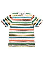 新品★LOT29ボーダー半袖ポロシャツ★カラフル★Lサイズ