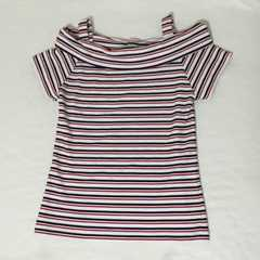 #GRLマルチボーダーオフショルTシャツ/L