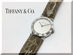 ティファニー アトラス 銀製メンズクオーツ腕時計 M0640