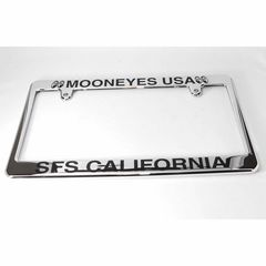 MOONEYES USA クローム ライセンスフレーム MG057CHMU