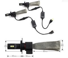 ヒートリボン式 LEDヘッドライト H4 12v 24v 25w 6500k