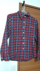 ROXY秋冬むき赤チェックシャツ