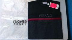 激安80%オフヴェルサーチ、長袖Tシャツ(新品タグ、黒灰、イタリア製、L)