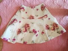 Byebyeピンク花柄フレアスカート新品タグ付