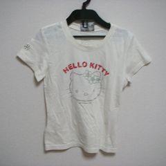 ハローキティ 半袖 Tシャツ 薄ベージュ XS-S