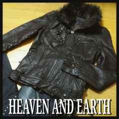 HEAVEN&EARTH ヘブンアンドアース★ROCK!モッズレザーライダースジャケット超美品