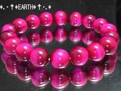 天然石★10ミリ美品ピンクタイガーアイ桃虎目石数珠