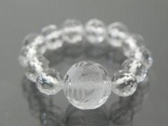 パワストリング/MR01/10mm彫り龍水晶6mmカット水晶19号〜23号