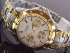 日本製ムーブメントVITAROSOメンズ腕時計コンビホワイト