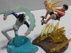ワンピースONE PIECEルフィ&青雉バトル フィギュア