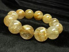 最強金運数珠 タイチンルチルクォーツブレスレット 16mmパワーストーン