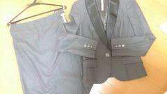 ルスーク ストライプ グレー スーツ
