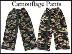 ビックサイズ迷彩 カーゴ ゴム式パンツ #4 80-116cm