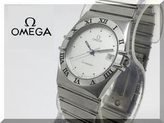 オメガ コンステレーション 3針 クオーツ SS メンズ腕時計