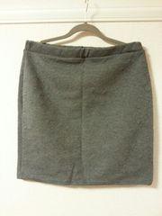大きいサイズ◆キラガラダイカットスカート◆チャコールグレー◆4L