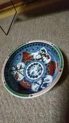 清朝時代→赤絵金彩模様小深鉢→窯…印