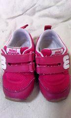 ミキハウス14.5EE赤スニーカー