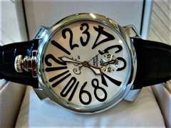 正規club faceブラックベルト腕時計◆GAGAガガミラノtype◆