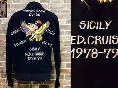 実寸M/希少!70's ビンテージ 刺繍 スーベニアJKT USA 古着 f&e スカジャン