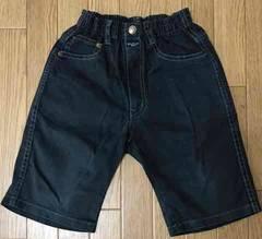 87■ボーイズ 半ズボン 120cm ブラック 黒 切手払い可能