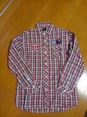 ☆新品☆RUSS-Kラスケー☆赤チェックシャツ☆L