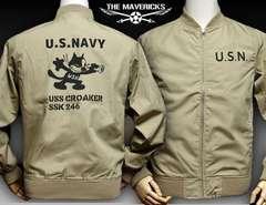 ミリタリージャケット XL 米海軍フェリックスCROAKERモデル新品