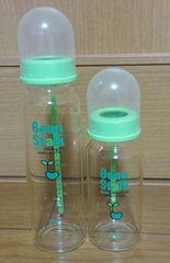 ビーンスターク☆ガラス製の哺乳瓶☆大小3本セット