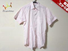 ダンヒル 半袖シャツ メンズ美品  ピンク×白 ストライプ