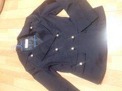 新品★銀ボタン付きトレンチコート風ジャケット/ネイビー/M