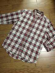 美品CIAO PANIC 7分丈チェックシャツ チャオパニック