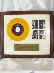超激レアザ・ビートルズレットイットビー記念盤イエローレコード盤額付き