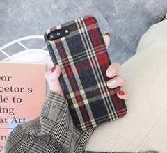 新品 スマートフォンケース チェック柄 iPhone X 適