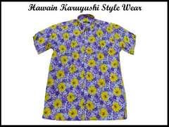 ビッグサイズハワイアンアロハカリユシスタイル風シャツ 2XL