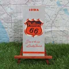 激レア【輸入地図】Iowa/アイオワ州 -Phillips 66-