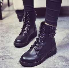 ブーツ ショートブーツ 靴美脚 編み上げブーツ疲れない 22.5〜25